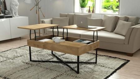 Ława LIFT DĄB 99×60 – stolik kawowy