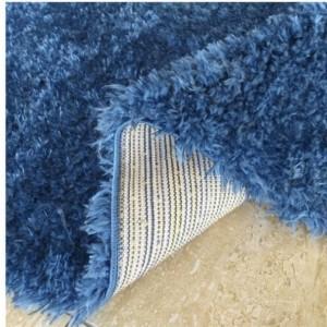 Dywan shaggy Merinos niebieski granatowy