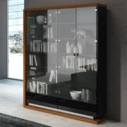 Biblioteka 160 – PORTO – orzech amerykański + arkylux czarny