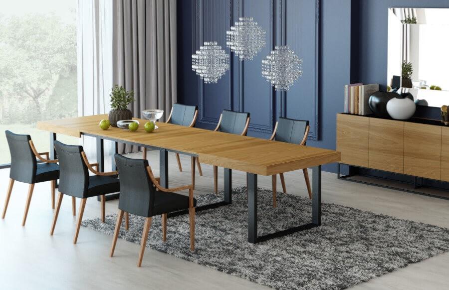 Rozkładany stół z krzesłami