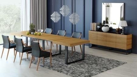 Stół rozkładany 180 / 380 cm FAMILY