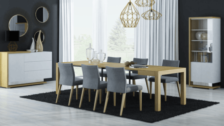 Stół rozkładany 96 / 297 cm x 96 cm BARCELONA MAXI