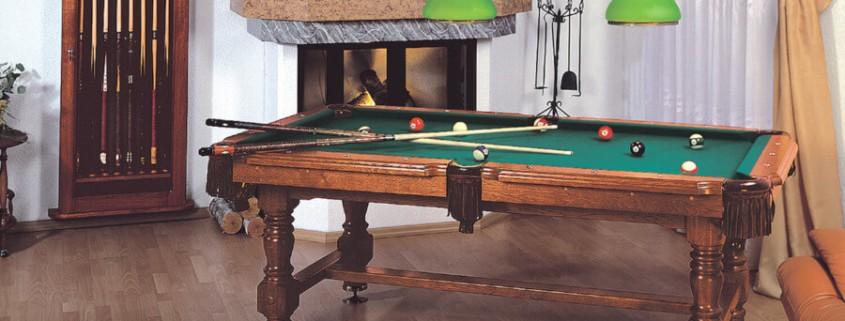 stół bilardowy w domu spokojnej starości