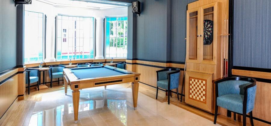 Stół bilardowy w sanatorium