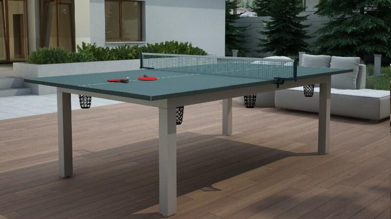 stół bilardowy do ogrodu i tenisa stołowego