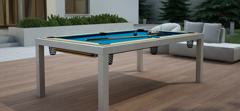 Metalowy stół bilardowy do ogrodu