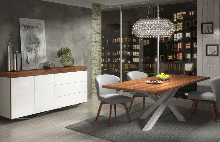 Stół loftowy - drewniany blat