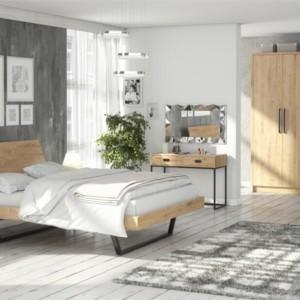 Szafa 207 do sypialni – LUGO dąb sękaty