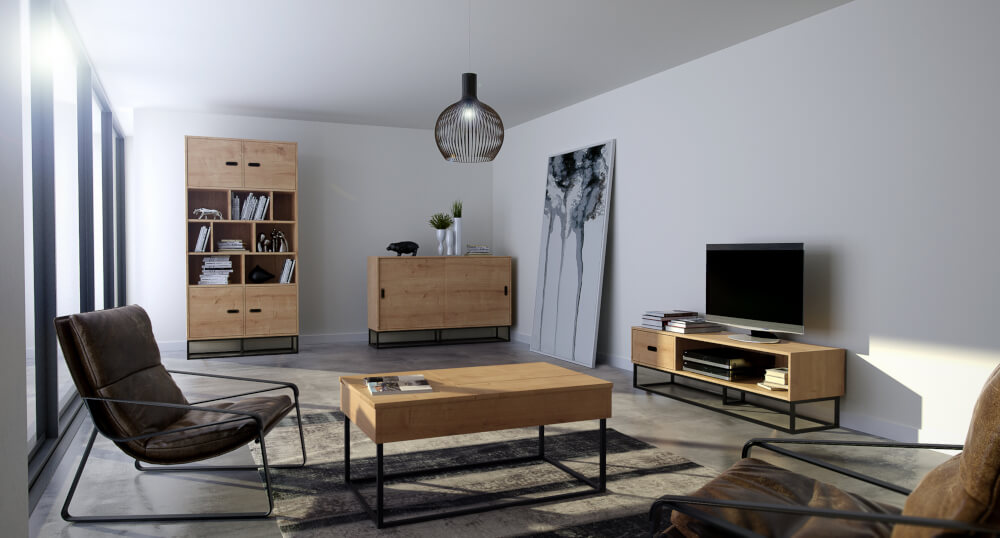 Wnętrze w stylu loftowym (industrialnym)
