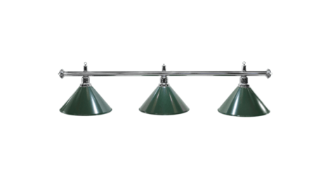 Lampa ELEGANCE 3 klosze zielone
